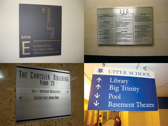Building Signs New York Egress Map Signs Directory